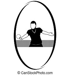 Table Tennis-3 - Summer kinds of sports Illustration on a...