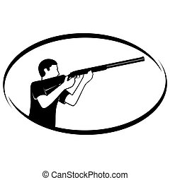 Trap shooting - Summer kinds of sports Illustration on a...