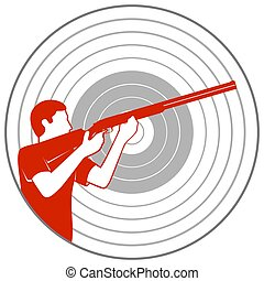 Trap shooting-1 - Summer kinds of sports Illustration on a...