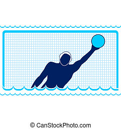 Waterpolo - Summer kinds of sports Illustration on a sports...