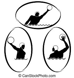 Waterpolo - Summer kinds of sports. Illustration on a sports...