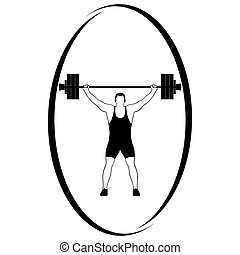 Weightlifting-1 - Summer kinds of sports Illustration on a...