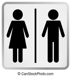 Man and Woman restroom sign - Man Woman restroom sign