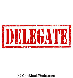 Delegate-stamp - Grunge rubber stamp with text...