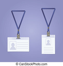 Id Badge - Vector image of pair of ID Badge