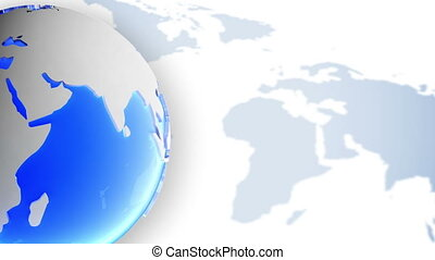 World globe background. Loop. - World globe video...