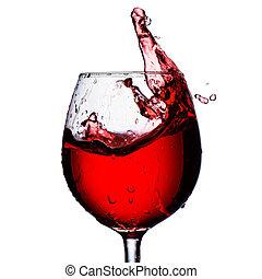Red wine - Glass of red wine splash