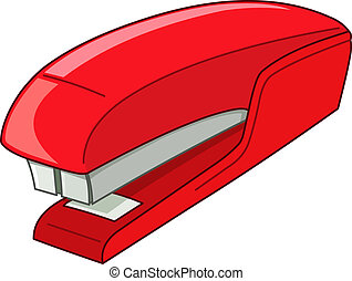Stapler - Vector red stapler