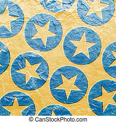 grunge background with stars in circles