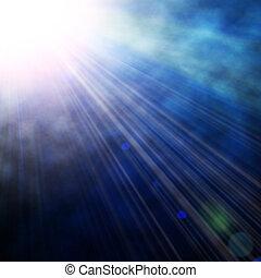 azul, proyector, Ilustración