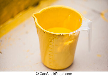 Yellow Paint Can