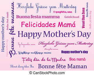 Background Happy mother's day - Background pink Happy...