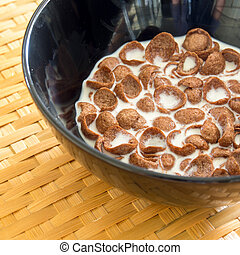 Cereal bowl  with milk