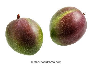 Mangoes isolated on white background