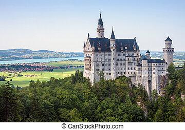 Neuschwanstein castle in Bavaria, Germany.