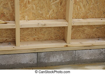 wood house - part of a wood house construction