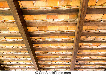 Pattern of under the roof tiles