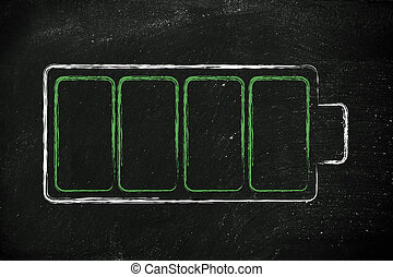 phone or electronical device battery design - design of a...