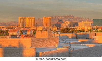 Sunrise Time Lapse Las Vegas Panning - High definition time...
