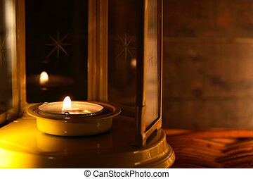 Lamp With Candle