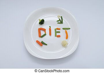 Diet Meal - A healthy diet vegetarian meal