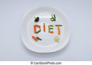 Diet Meal - A healthy diet vegetarian meal