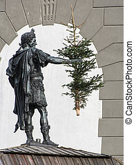 Augustus - Sculpture of Augustus in Augsburg at the Augustus...