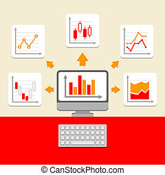 Business Ratings and Charts Collection. Infographic Elements