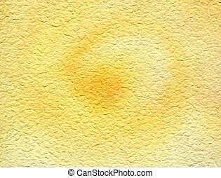 Whirling sun watercolor texture background earthy yellow...