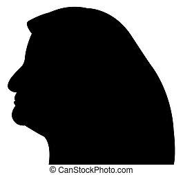 muslim lady head, scarf silhouette