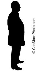 standing man silhouette