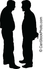 friends silhouette - vector  - friends silhouette vector