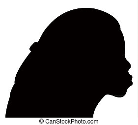 a girl head silhouette