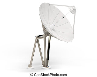 satellite dish in colour background