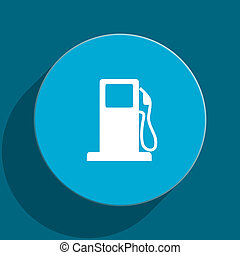 petrol blue flat web icon - blue web button