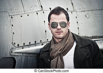 Male Model with Scarf