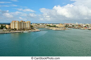 Old San Juan coastline - Skyline and coastline of Old San...