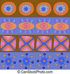 Decorative pattern with African patterns