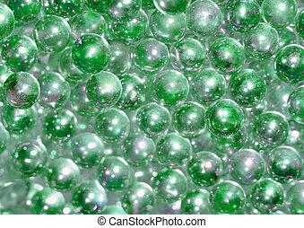 Green Beads - green glass bead in no real order