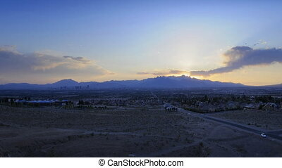Mountain Sunset Cropped - High definition time lapse of a...