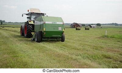 baler discharge hay bale - tractor baler equipment discharge...