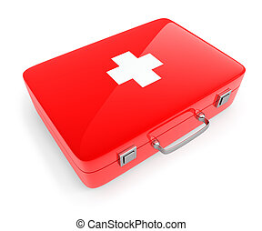 First aid kit case isolated on white