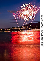 Fireworks Over the Lake