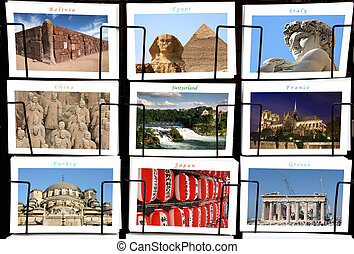 World Landmark collage