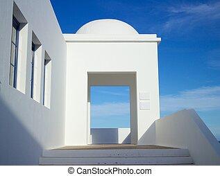 Lanzarote Business Building Entrance - Entrance of a modern...