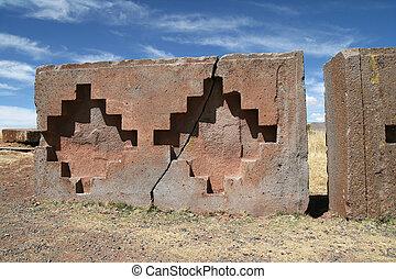 geométrico, patrón, pared, Kalasay