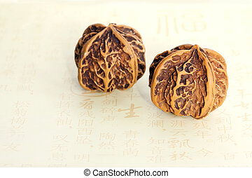 Baoding balls in walnut form for hand massage