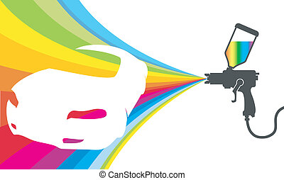 car painting vector - design for car paint, colored paint...