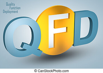 Quality Function Deployment - acronym 3d render illustration...