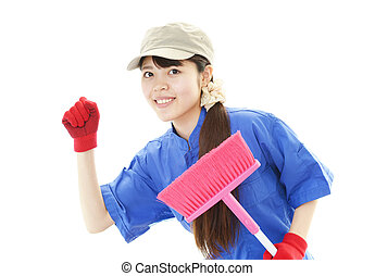 Cleaner woman.